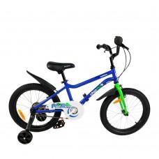 """Детский велосипед RoyalBaby Chipmunk MK 18"""", OFFICIAL UA, синий"""