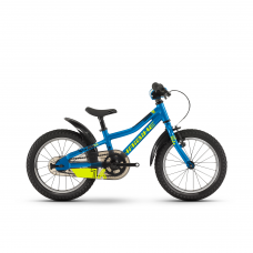 """Детский велосипед Haibike SEET Greedy 16"""", рама 21 см, голубой/салатовый/черный, 2020"""