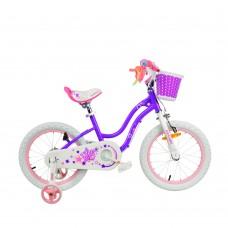 """Детский велосипед RoyalBaby STAR GIRL 18"""", OFFICIAL UA, фиолетовый"""
