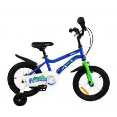 """Детский велосипед RoyalBaby Chipmunk MK 14"""", OFFICIAL UA, синий"""