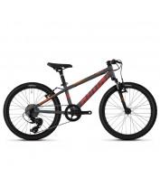 """Детский велосипед Ghost Kato Essential 20"""", рама one-size, серо-оранжевый, 2021"""