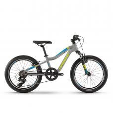 """Детский велосипед Haibike SEET Greedy 20"""" , рама 26 см,серый/салатовый/голубой, 2020"""